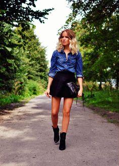 Leather Skater Skirt | Style | Pinterest | Leather skater skirts ...