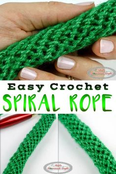 Learn how to #crochet a Spiral Rope, Tube or Cord using this easy to follow crochet tutorial. It uses simple single crochet and can be used for bag handles. This crochet spiral rope tutorial is very detailed and is the easiest crochet rope pattern. ~ #FreeCrochetPattern