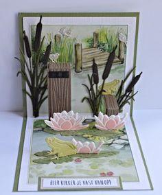 Marja's + Hobbyhuis: + Marianne + Design + kaart + No. Easel Cards, 3d Cards, Pop Up Cards, Pop Up Karten, Karten Diy, Fancy Fold Cards, Folded Cards, Handmade Birthday Cards, Greeting Cards Handmade