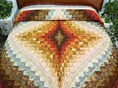 Diamond Bargello Quilt -- terrific adeptly made Amish Quilts from Lancaster (hs4336)