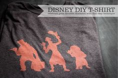 DisneyDIYtshirts - create a vintage tee with the Silhouette and bleach!