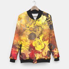 flowers yellow Baseball Jacket