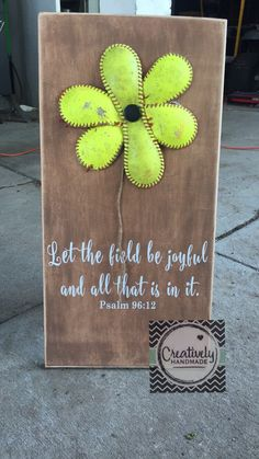 "Baseball sign, softball sign, softball lovers, inspirational quote , Baseball flower softball flower sign. Let the field be joyful and all that is in it.  Baseball sign, softball sign, baseball flower, softball flower. . . These are great gifts for Softball/ Baseball Lovers!!  +Wood Sign Measures approx. 12"" x 24"".  +Can be made w/or Softballs/Baseballs.  +Quote can be different."