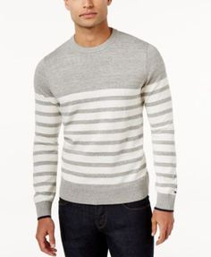 TOMMY HILFIGER Tommy Hilfiger Men'S Big &Amp; Tall Scout Striped Sweater. #tommyhilfiger #cloth # sweaters