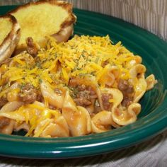 Hamburger - Noodle - Corn Casserole Recipe--will add onion & green pepper while browning meat, and adjust seasoning to taste