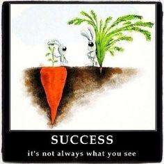 Success is not only what you see / Le succès n'est pas toujours visible citation quote⎟ Talented Girls, conseils business et ondes positives pour les femmes entrepreneures ! www.talentedgirls.fr