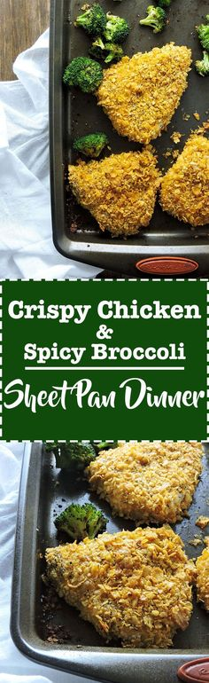 Crispy Chicken and Spicy Broccoli Sheet Pan Dinner