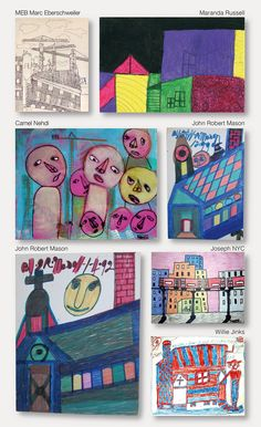 Urban glimpses in a selection of works by six from hundred outsider artists presented on the swiss gallery website www.outsider-art-brut.ch or www.aussenseiterkunst.ch.  The site in english and german was created 2012 in particular to introduce the fabulous drawings of an almost forgotten german baker, Ernst Kolb, 1927-1993.  Four years ago, Google did not find Ernst Kolb, but now, he is present and easily found. The website has grown, it is regularly updated, presents Kolb and 99 others.