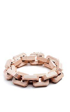 Rose Gold-Plated Large Link Bracelet by Eddie Borgo (=)