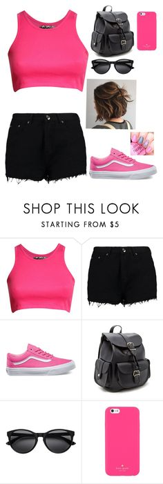 """""""A day at DollyWood"""" by mhrainbows ❤ liked on Polyvore featuring beauty, Pilot, Boohoo, Vans, Forever 21 and Kate Spade"""