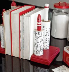 How to make vintage kitchen rolling pin DIY bookends