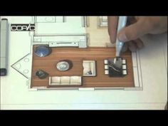 A step by step tutorial of rendering a plan with Copic markers. The commentary is in Turkish, but the video has great close ups and really shows the process of building up the layers of a marker drawing.