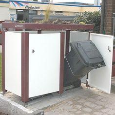 Pulverbeschichtete Mülltonnen-Verkleidung