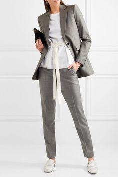 Joseph - Kong Super 100 Wool-twill Straight-leg Pants - Gray - FR42