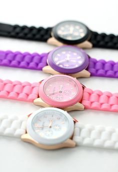 Candy Color Crystal Quartz Watch