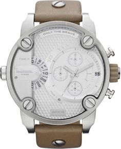 Diesel Little Daddy Oversized Chronograph Stainless Steel Mens Watches Leather, Watches For Men, Brave, Diesel Store, Diesel Watch, Brown Leather Strap Watch, Watch Sale, Watches Online, Luxury Watches