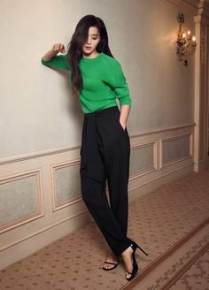 Jun jihyun 2017 Office Fashion, Pop Fashion, Style Fashion, Jun Ji Hyun Fashion, Chic Outfits, Fashion Outfits, Fashion Ideas, Asian Celebrities, Asian Style
