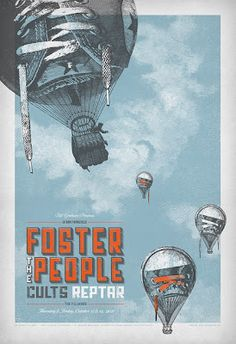 Foster the People poster by Brad Kayal