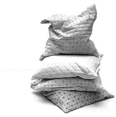 geo pillows and poufs