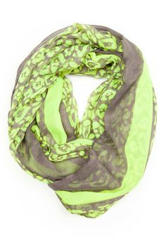 http://shop.necklush.com/collections/infinity-scarf-circle-spring-womens/products/neon-green-infinity-scarf  Neon green grey infinity scarf, green grey loop scarf #accessories #circlescarf #infinityscarf #style