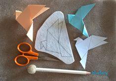 bluefairy art: Origami Magic, broszka