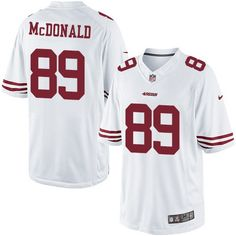Nike Limited Vance McDonald White Men's Jersey - San Francisco 49ers #89 NFL Road