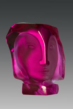 "Gilles Chabrier  (French, 1959-), ""Rose"" Glass Sclupture."