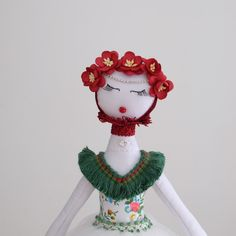 Textile Art Doll Handmade Doll Cloth Art Doll Collectible Doll Soft Doll for Display Home Decor Doll Fabric Doll Sculpture Rag Doll by…