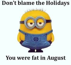 Hahahahahaha!! Blame it on anything but lazy and excessive food intake.
