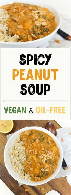 Spicy Peanut Soup | vegan & oil-free