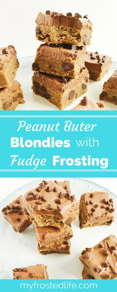 Need a sweet treat for your picnic or party? These easy Peanut Butter Blondies with Decadent Fudge Frosting feature chewy peanut butter chocolate chip blondies topped with a classic chocolate fudge frosting. These feature the best combination of peanut butter and chocolate and are easy homemade bars. Get baking with the recipe today!