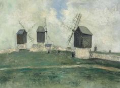 Maurice Utrillo (1883-1955) Les petits moulins à l'île d'Ouessant (Finistère) signed 'Maurice. Utrillo. V.' (lower right) oil on canvas 23 5/8 x 31 7/8 in. (60 x 81.2 cm.) Painted circa 1912