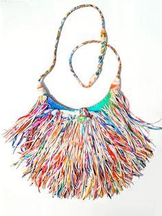 El Fleco Crossbody Fringe Bag Rainbow Leather #2