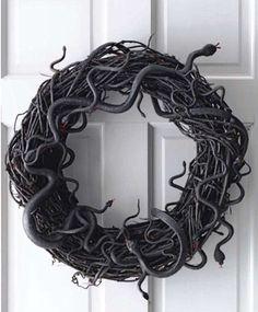 Spooky door wreath
