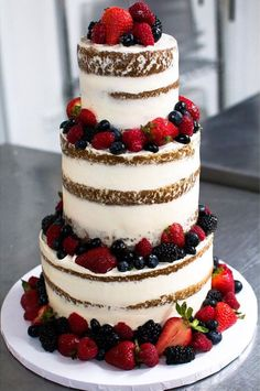 Wedding cake ideas to inspire you. Let them eat cake these pretty beautiful, delicious, on-trend wedding cake! so whether you're all about clean and classic white, or gilded and glam,Naked wedding cake,fruit wedding cake Wedding Inspiration,we've got it all right here…