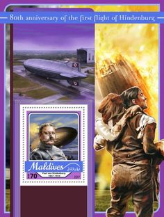 anniversary of the first flight of Hindenburg (Paul von Hindenburg Maldives, The One, Stamps, Anniversary, Movie Posters, The Maldives, Seals, Film Poster, Popcorn Posters