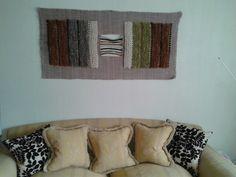 Mural decorativo tejido en telar tradicional con lanas 100% naturales
