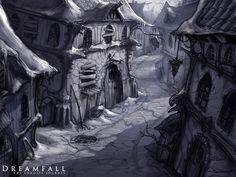 Arte conceptual de Dreamfall: The Longest Journey. Videojuego noruego Concept Art Dreamfall: The Longest Journey. The Longest Journey, Fantasy Places, Some Pictures, Adult Coloring, Concept Art, Campaign Ideas, Fan Art, City, Drawings