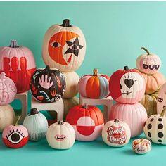 Creative Painted Pumpkin Ideas for Those Who Hate Carving - Halloween DIY, Spooky Halloween, Diy Halloween Decorations, Holidays Halloween, Halloween Crafts, Holiday Crafts, Holiday Fun, Happy Halloween, Halloween Party, Festive