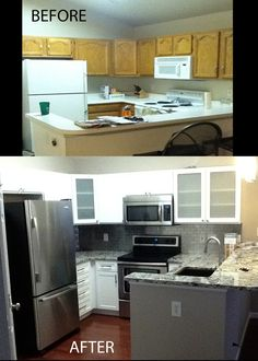 My kitchen, before and after!