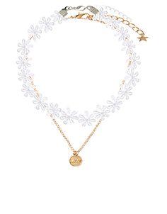 2 x Flower Love Choker & Pendant Necklace