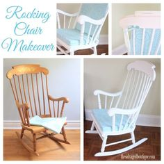 vintage rocking chair collage