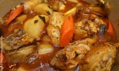 Pollo Guisado - Braised Stewed Chicken. Puerto Rican Style. Labor intensive, but authentically delicious.
