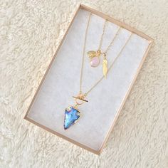 New Native Necklace & Bioluminescence Arrowhead Necklace by Long Lost Jewelry