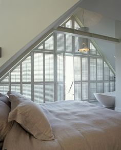 JASNO volets intérieurs triangle chambre salle blanche