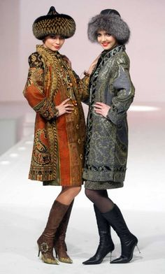 Welcome to the Russian Cultural Lotto! We are here to celebrate the Russian Culture and how cool it is! And also to giveaway TWO Mother Russia Sets! Ethnic Fashion, High Fashion, Womens Fashion, Bohemian Fashion, Mode Russe, Fur Clothing, Clothing Styles, Russian Culture, Russian Fashion