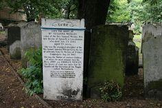 Tombstone of Susanna Wesley, mother of John Wesley.