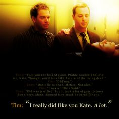 This scene was really beautiful!!! I really did like you Kate. A lot.