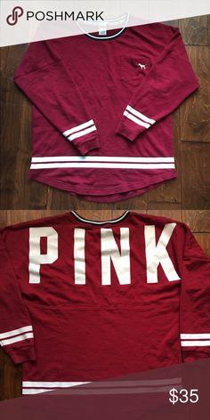 VS PINK Sweatshirt Super comfy oversized VS PINK sweatshirt PINK Victoria's Secret Tops Sweatshirts & Hoodies