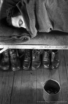 Harold Feinstein - Boots Stowed Under Cot, 1952